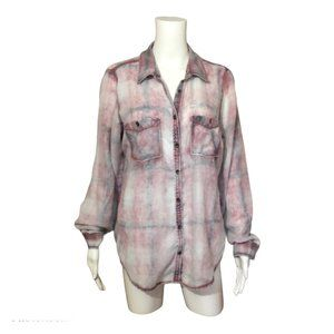 Maurices Heavily Bleached Flannel Shirt